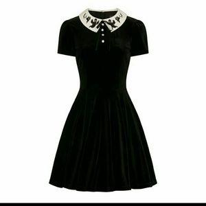 Hell Bunny Dresses - Gothic ghost velvet dress Hot Topic Killstar